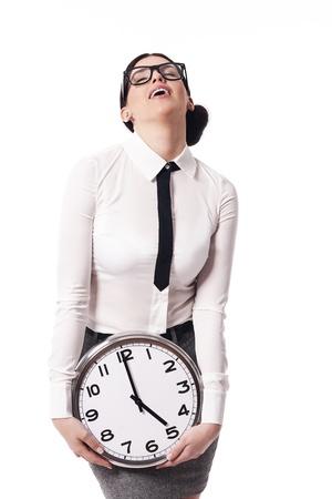 Businesswoman cieszy go Zdjęcie Seryjne