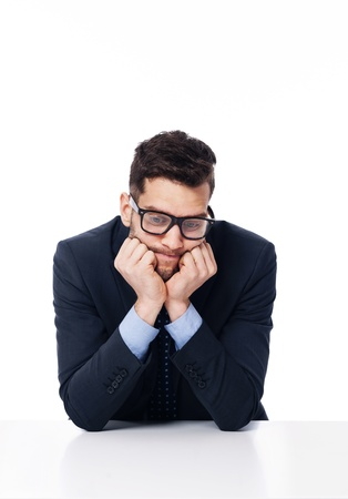 Very boring day at work Stock Photo - 19248671