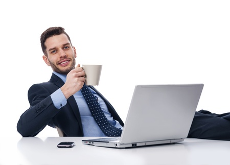 Businessman relaxing in break time  photo