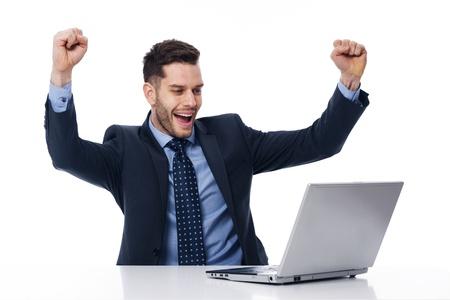 Portrait of happy young businessman  photo