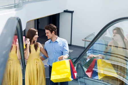 Couple in shopping mall Stock Photo - 19428730