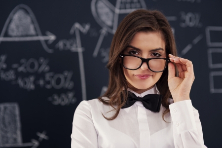 Sexy young woman wearing in glasses  Stock Photo - 19751023
