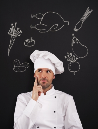 Hmmm... What can I cook? Stock Photo - 20366749