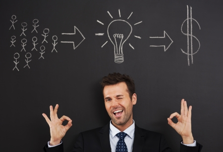Ideas from people can makes a lot of money Stock Photo - 20366721