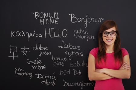外国語を学ぶ 写真素材
