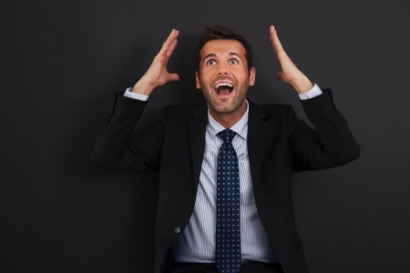 facial expression: Unbelievable! Its big opportunity for me Stock Photo