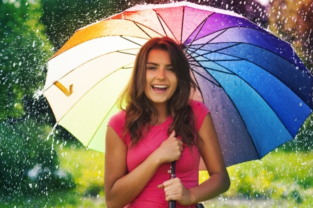 weather protection: Funny time in summer rain
