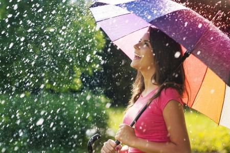 So much fun from summer rain Фото со стока - 21534378