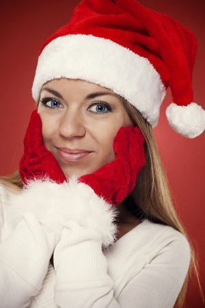 Beautiful santa woman  photo