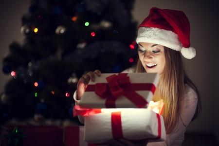 Beautiful woman with magic gift photo