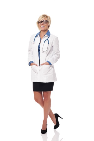 Cheerful and positive female doctor photo