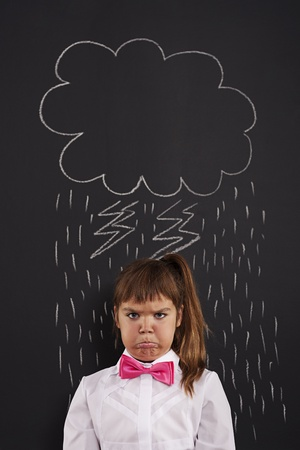 bad day: I have very bad day!  Stock Photo