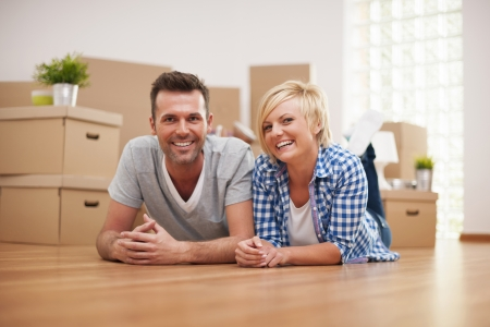 Happy from a brand new house Stock Photo - 22025492