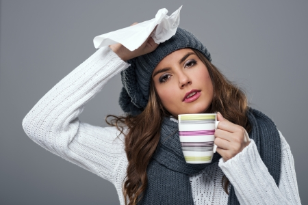 cold and flu: Season for cold and flu Stock Photo