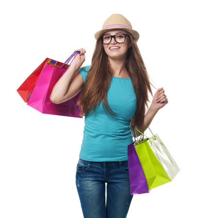 Young woman during the summer sale Stock Photo - 22988349