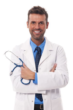 male doctor: Portrait of attractive male doctor Stock Photo