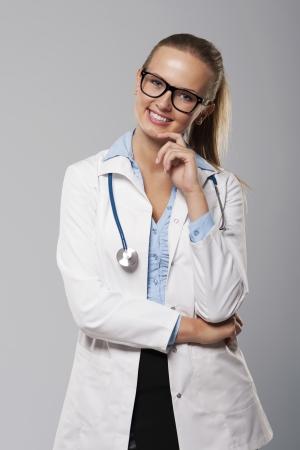 Portrait of female doctor wearing glasses Stock Photo - 24372153