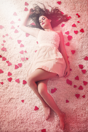 Beauty young woman in love  photo