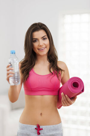 Smiling woman is ready to hard workout  photo