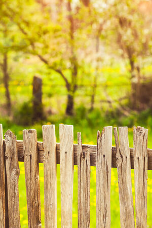 Close up of wood fence in village   photo