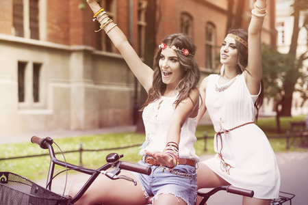 Summertime is in the air for boho girls photo