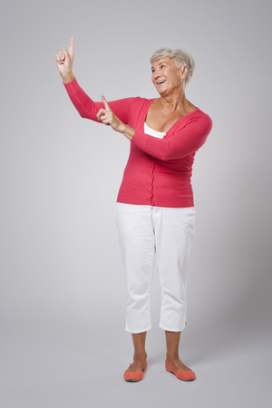Good advice from senior woman  photo