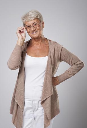 Portrait of beautiful elegant senior woman  photo