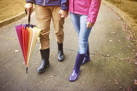 botas de lluvia: Estamos preparados para el clima de otoño Foto de archivo