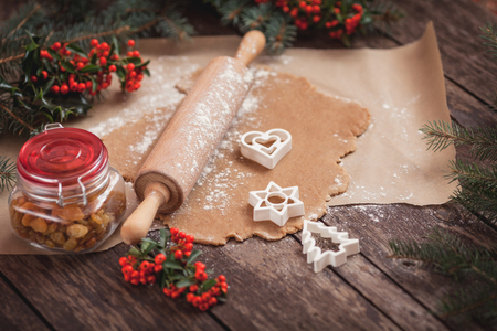 christmas cooking: Christmas preparation of sweet food Stock Photo