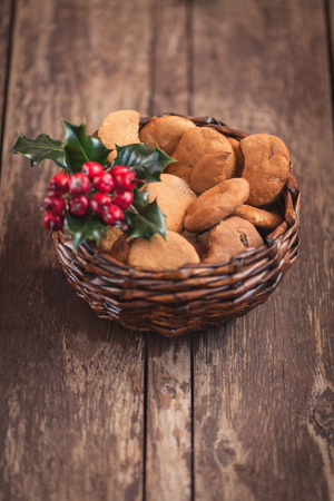 sugar cookie: Gingerbread cookies in lovely little basket