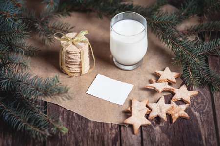Cookies and milk for Santa Claus  photo