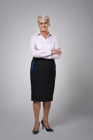 senior adult woman: Portrait of candid senior business woman