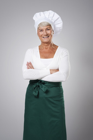 Portrait of experienced female chef photo