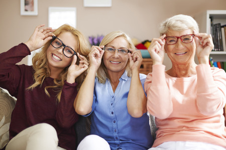 Fashion frames of glasses for each, despite of age Stockfoto
