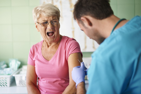 so: Oh! It hurts so much Stock Photo