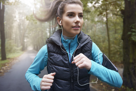 jogging in park: Music is my personal motivation