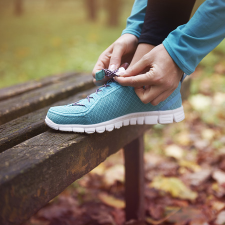 basis: Good shoes is the basis for running Stock Photo
