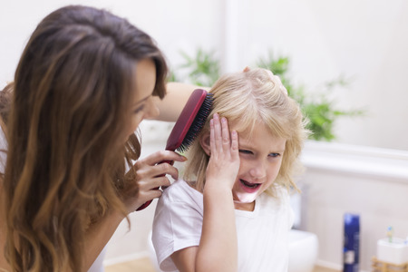 hairbrush: Mom stop! It hurts so much!