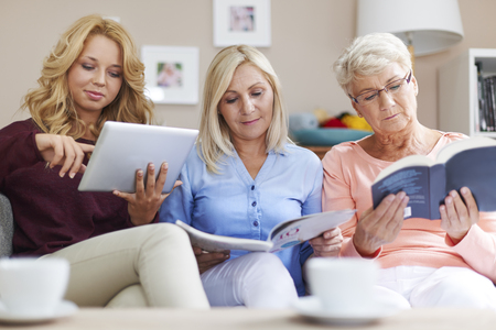 mothers group: They like reading so much