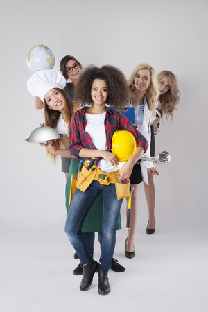 occupations: Different occupations of young women