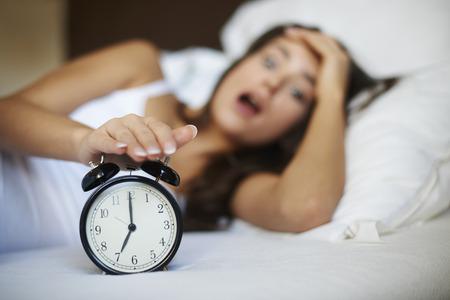 Oh no! I overslept again! 免版税图像