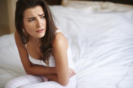 menstruacion: Este dolor es tan exhaustiva Foto de archivo