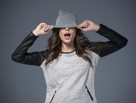 goofing: Goofing around with hat