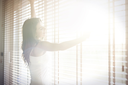 open windows: Sunny mornings are very pleasant Stock Photo