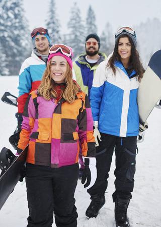 Snowboard est bonne idée pour les vacances d'hiver Banque d'images - 36514187