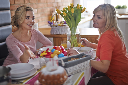 easter morning: Easter morning with mom is very important for me