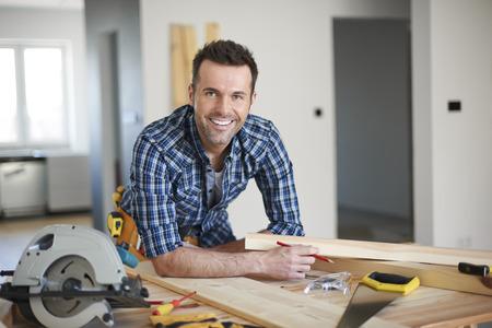 menuisier: Il est le meilleur charpentier dans la ville Banque d'images