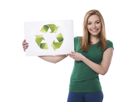 stay in the green: Stay green and support ecology Stock Photo