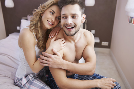spent: Enjoy every single morning spent with your love Stock Photo