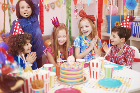 home party: Time to celebrate of ninth birthday